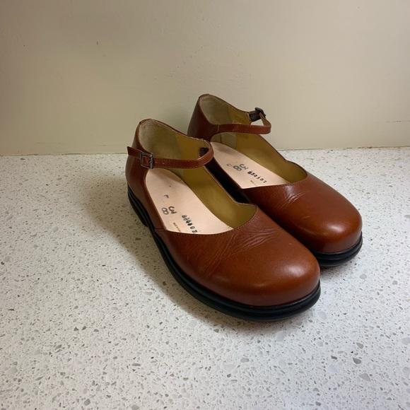 Footprints by Birkenstock Eden Mary Janes 38 Brown